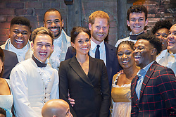 August 29, 2018 - London, England, United Kingdom - 8/29/18.Prince Harry and Duchess Meghan Markle of Sussex pictured after the performance meeting cast and crew backstage at the Victoria Palace Theatre, London.. The evening will raise awareness and funds for Sentebale''s work with children and young people affected by HIV in southern Africa. (Credit Image: © Starmax/Newscom via ZUMA Press)