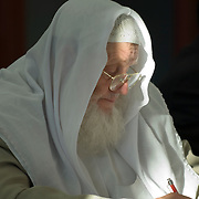 Sheik Yusuf Estes at a conference in Edinburgh, August 2006. Yusuf Estes, a former christian preacher, is now National Muslim Chaplain for American Muslims.<br />
