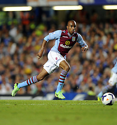 "Aston Villa's Fabian Delph  - Photo mandatory by-line: Joe Meredith/JMP - Tel: Mobile: 07966 386802 21/08/2013 - SPORT - FOOTBALL - Stamford Bridge - London - Chelsea V Aston Villa - Barclays Premier League - EDITORIAL USE ONLY. No use with unauthorised audio, video, data, fixture lists, club/league logos or ""live"" services. Online in-match use limited to 45 images, no video emulation. No use in betting, games or single club/league/player publications"