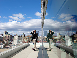 Viewing balcony at the New Museum of Contemporary Art in Manhattan New York City USA