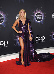 Carrie Underwood at the 2019 American Music Awards held at the Microsoft Theater in Los Angeles, USA on November 24, 2019.