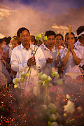 Buddhist monks and the Cambodian public mourn the death of King Norodom Sihanouk. He was the King of Cambodia from 1941 to 1955 and again from 1993 to 2005. He was the effective ruler of Cambodia from 1953 to 1970. <br /> He died October 15, 2012, Beijing, China