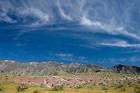 cloud formation above hikers along a trail through San Verbena in Anza-Borrego Desert State Park, California, USA