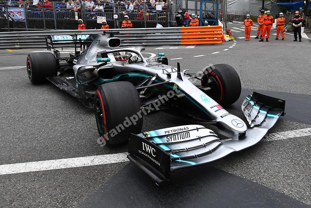 Lewis Hamilton (Mercedes) during practice before the 2019 Monaco Grand Prix. Photo: Grand Prix Photo