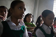 Dhaka, Bangladesh. Sharmin, hearing impaired but in main stream school.Centre for Services and Information on Disability (CSID) is a charity working for integrating disabled children into mainstream society.