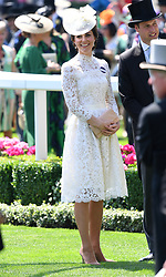 The Duchess of Cambridge during day one of Royal Ascot at Ascot Racecourse, London