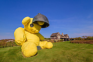"""""""Untitled (Lamp/Bear)"""" by Urs Fischer, Home Designed by David Adjaye, Andy Warhol's former home. Old Montauk Hwy, Montauk,  New York"""