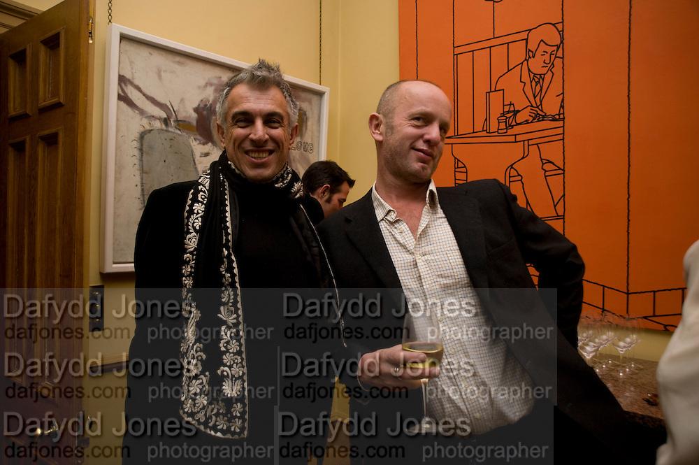 RIFAT OSBEC; JOHNNIE SHAND KYDD, fff. Video instalation by Kutluk Ataman. Thomas Dane Gallery, Duke st. Afterwards at Ivor Braka's house. Chelsea. London. 12 March 2009