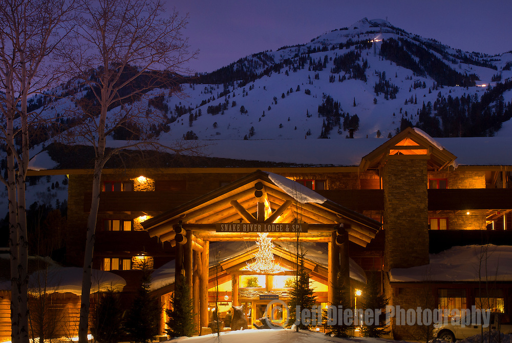 The Snake River Lodge & Spa at Jackson Hole Mountain Resort, Jackson Hole, Wyoming.