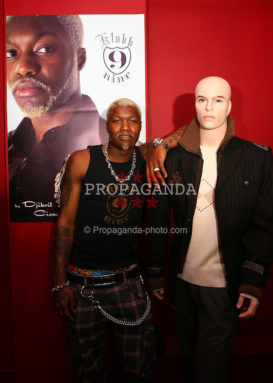 LIVERPOOL, ENGLAND - SATURDAY, MARCH 25th, 2006: Liverpool and France striker Djibril Cisse at the UK launch of his clothing label Klubb 9 at the Isis Club, Liverpool. (PIc by David Rawcliffe/Propaganda)