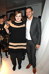 Singers ADELE ADKINS and WILL YOUNG at a party hosted by PPQ of Mayfair at the Fiat Flagship Store, 105 Wigmore Street, London W1 on 11th February 2008.<br />