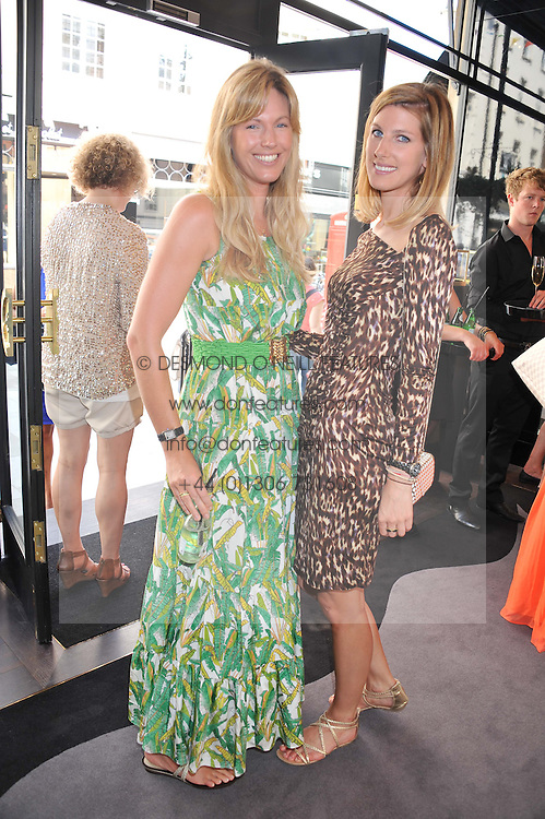 Left to right, MARINA FOGLE and SUSANNA WARREN at a girl's lunch to celebrate the opening of Annoushka Ducas's new store Flagship Annoushka at 1 South Molton Street, London W1 on 26th July 2012.  Following drinks guests went for lunch at Claridge's, Brook Street, London.
