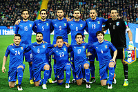Formazione Italia - Team Italy <br /> Marco Parolo, Davide Astori, Graziano Pelle', Thiago Motta, Leonardo Bonucci, Gianluigi Buffon <br /> Bottom Alessandro Florenzi, Antonio Candreva, Emanuele Giaccherini, Martin Eder, Matteo Darmian <br /> Udine 24-03-2016 Stadio Friuli Football Calcio Friendly match Italia - Spagna / Italy - Spain Foto Andrea Staccioli / Insidefoto <br /> Fiorentina captain Davide Astori dies suddenly aged 31 . <br /> Astori was staying a hotel with his team-mates ahead of their game on Sunday away at Udinese when he passed away. <br /> Foto Insidefoto