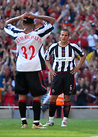 Photo: Ed Godden.<br />Arsenal v Sheffield United. The Barclays Premiership. 23/09/2006. Sheffield United Captain, Phil Jagielka (R) can't believe he scored an own goal.