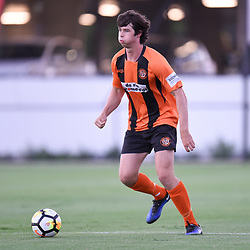 BRISBANE, AUSTRALIA - JANUARY 8: Alex Barnett of Easts in action during the Kappa Silver Boot Group A match between Brisbane Strikers and Eastern Suburbs on January 8, 2017 in Brisbane, Australia. (Photo by Patrick Kearney)