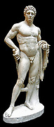 Marble statue of a youthful Hercules. Roman A.D. 68–98