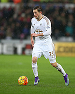 Gylfi Sigurdsson of Swansea city in action.Barclays Premier league match, Swansea city v Crystal Palace at the Liberty Stadium in Swansea, South Wales on Saturday 6th February 2016.<br /> pic by Andrew Orchard, Andrew Orchard sports photography.