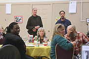 """19 January 2015-Santa Barbara, CA: Community Lunch at the First United Methodist Church (Rev. Mark Richardson and Rev. Alan Strout). Santa Barbara Honors Dr. Martin Luther King Jr. with a Day of Celebration.  The Santa Barbara MLK, Jr. Committee chose """"Drum Majors for Justice"""" as it's theme for the day which included a Pre-March Program in De la Guerra Plaza followed by a march up State Street to the Arlington Theater for speakers, music and poetry.  The program concluded with a Community Lunch at the First United Methodist Church in Santa Barbara.  Photo by Rod Rolle"""