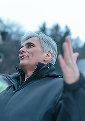 03.01.2016, Bergisel Schanze, Innsbruck, AUT, FIS Weltcup Ski Sprung, Vierschanzentournee, Siegerehrung, im Bild Bundeskanzler Werner Faymann // Federal Chancellor Werner Faymann during Award ceremony of Four Hills Tournament of FIS Ski Jumping World Cup at the Bergisel Schanze, Innsbruck, Austria on 2016/01/03. EXPA Pictures © 2016, PhotoCredit: EXPA/ JFK