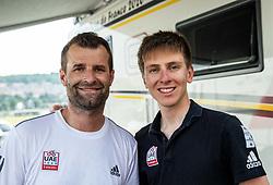 Andrej Hauptman and Tadej Pogacar during Slovenian National Road Cycling Championships 2021, on June 20, 2021 in Koper / Capodistria, Slovenia. Photo by Vid Ponikvar / Sportida