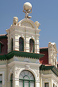 Architectural detail of a German colonial building, Hohenzollern House in Swakopmund, Namibia