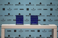 May 12, 2019 - Madrid, MADRID, SPAIN - Trophies of the Mutua Madrid Open Sub 16 2019 (ATP Masters 1000 and WTA Premier) tenis tournament at Caja Magica in Madrid, Spain, on May 11, 2019. (Credit Image: © AFP7 via ZUMA Wire)