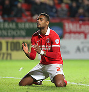 Charlton Athletic striker Ricardo Vaz Te missing a golden chance during the Sky Bet Championship match between Charlton Athletic and Leeds United at The Valley, London, England on 12 December 2015. Photo by Matthew Redman.