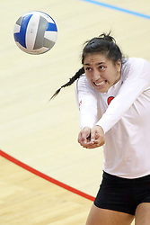 17 October 2014:  Stacey Niao during an NCAA Missouri Valley Conference (MVC) womens volleyball match between the Northern Iowa Panthers and the Illinois State Redbirds for 1st place in the conference at Redbird Arena in Normal IL