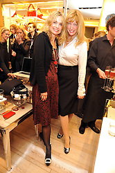 Left to right, MARYAM D'ABO and DR SHERRIE BAEHR at a Champagne & chocolate party hosted by Roger Vivier at their store in Sloane Street, London on 12th February 2009.  The evening was in aid of The Silver Lining charity.
