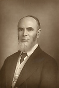 'Leonard Henry Courtney , 1st Baron Courtney of Penwith (1832-1918)English Liberal statesman and journalist born at Penzance, pictured c1890. Committed to proportional representation in elections.'