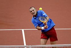 23-09-2006 TENNIS: DAVIS CUP: NEDERLAND - TSJECHIE: LEIDEN <br /> Martin Damm<br /> ©2006-WWW.FOTOHOOGENDOORN.NL