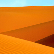 Striking colours of the dunes in the Liwa Desert, Abu Dhabi.