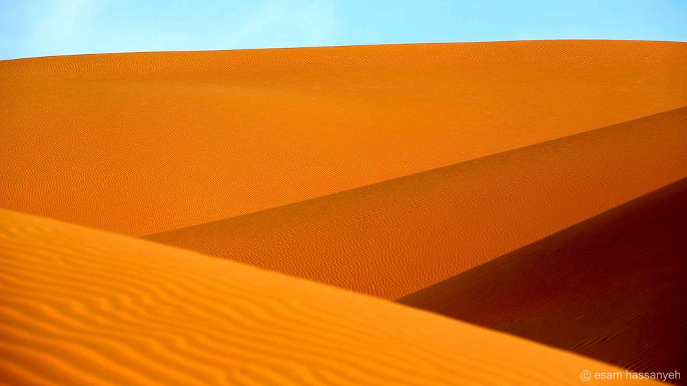 Striking colours of the dunes in the Liwa Desert, Abu Dhabi.