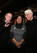 Timothy GreenField-Sanders and  Debra Lee and Ken Bercher at The Black House during the 2008 Sundance Film Festival. ..HISTORY..The Blackhouse Foundation was created in 2007 by a group of dedicated individuals interested in black cinema - preserving and furthering its legacy. Black House works to provide a platform for African American filmmakers to use their voice to tell stories by and about African Americans in the world of independent and feature films...Black filmmakers made history in 2007, the year The Blackhouse Foundation launched the Blackhouse® venue at the 2007 Sundance Film Festival.  Blackhouse® played host to over 150 daily visitors with more than 1,200 people visiting the venue throughout the festival.  Blackhouse® was open to the public throughout the day, hosted workshops, a legendary nightly cocktail hour, a marquee party for Our Stories Films, LLC and launched a landmark fellows program for young, aspiring filmmakers.  ..MISSION..The mission of the Blackhouse Foundation is to expand opportunities for Black filmmakers by providing a physical venue for our constituents at the world's most prominent film festivals and creating a nucleus for continuing support, community, education and knowledge.  .
