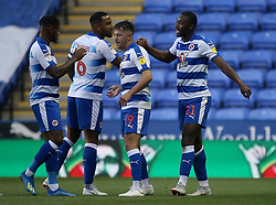 Reading's Yakou Meite celebrates scoring his side's first goal of the game with team mates
