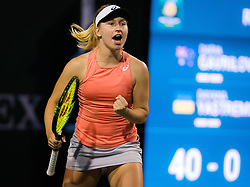 March 6, 2019 - Indian Wells, USA - Daria Gavrilova of Australia in action during the first round at the 2019 BNP Paribas Open WTA Premier Mandatory tennis tournament (Credit Image: © AFP7 via ZUMA Wire)