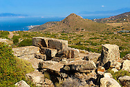 The ruins of the Sancturay of Zeus Hellanios, Aegina, Greek Saronic Islands .<br /> <br /> If you prefer to buy from our ALAMY PHOTO LIBRARY  Collection visit : https://www.alamy.com/portfolio/paul-williams-funkystock/aegina-greece.html <br /> <br /> Visit our GREECE PHOTO COLLECTIONS for more photos to download or buy as wall art prints https://funkystock.photoshelter.com/gallery-collection/Pictures-Images-of-Greece-Photos-of-Greek-Historic-Landmark-Sites/C0000w6e8OkknEb8