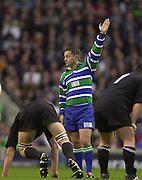 Richmond/Twickenham, England, Autumn International, and All Blacks Trianing at Old Deer Park. <br /> 09/11/2002<br /> International Rugby England vs New Zealand<br /> Referee Jonathen Kaplan (RSA)       [Mandatory Credit:Peter SPURRIER/Intersport Images]