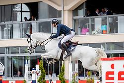 MUFF Werner (SUI), Jazoe van't Steenpaal<br /> Hagen - Horses and Dreams 2019<br /> Großer Preis der Deutschen Kreditbank AG- BEMER RIDERS TOUR - Wertungsprüfung - CSI4* Grand Prix Two Rounds<br /> 28. April 2019<br /> © www.sportfotos-lafrentz.de/Stefan Lafrentz