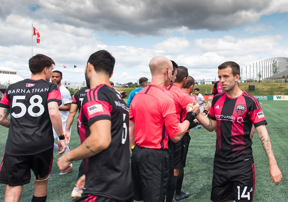 OTTAWA, ON - July 14: USL Championship match between the Ottawa Fury FC and Louisville City FC at TD Place Stadium in Ottawa, ON. Canada on July 14, 2019.<br /> <br /> PHOTO: Steve Kingsman/Freestyle Photography for Ottawa Fury FC