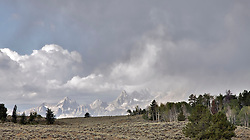 """Grand Tetons, thunderstorm, Grand Teton National Park<br /> <br /> For production prints or stock photos click the Purchase Print/License Photo Button in upper Right; for Fine Art """"Custom Prints"""" contact Daryl - 208-709-3250 or dh@greater-yellowstone.com"""