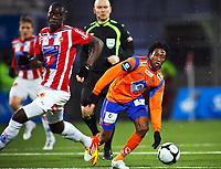 Fotball , 2. april , Tippeligaen , Eliteserien  Aalesund - Tromsø 0-0<br /> <br /> Serigne Modou Kara , TIL <br /> <br /> <br /> Demar Phillips , Aalesund