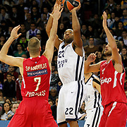 Anadolu Efes's Alfred Jamon Lucas (C) during their Turkish Airlines Euroleague Basketball playoffs Game 3 Anadolu Efes between Olympiacos at Abdi ipekci Arena in Istanbul, Turkey, Wednesday, April 17, 2013. Photo by Aykut AKICI/TURKPIX