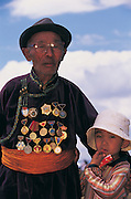 Mongolian with medals<br /> Ulaanbaatar<br /> Mongolia