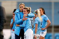 2020 / 2021 FA Women's Super League - Manchester City vs Chelsea - Manchester City Academy Stadium<br /> <br /> Steph Houghton and Lauren Hemp of Manchester City Women at Academy Stadium<br /> <br /> Credit COLORSPORT/LYNNE CAMERON