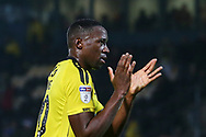 Burton Albion forward Lucas Akins (10) applauds the fans at the final whistle during the EFL Sky Bet League 1 match between Burton Albion and Wycombe Wanderers at the Pirelli Stadium, Burton upon Trent, England on 26 December 2018.