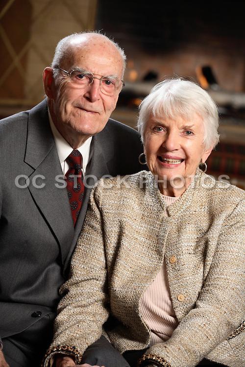 Elderly Couple Portrait Sitting