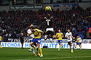 Huddersfield Town Goalkeeper Alex Smithies collects the ball. Skybet football league championship match, Bolton Wanderers v Huddersfield Town at the Macron stadium in Bolton, Lancs on Saturday 29th November 2014.<br /> pic by Chris Stading, Andrew Orchard sports photography.