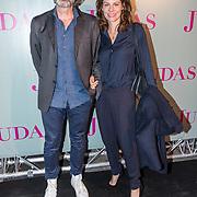 NLD/Amsterdam/20180920 - Premiere Judas, Rifka Lodeizen met partner Caspar Wijers