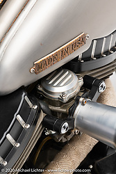 Pat Patterson's Naked Truth, 1998 Harley-Davidson Sportster. Photographed by Michael Lichter in Sturgis, SD. August 3, 2020. ©2020 Michael Lichter
